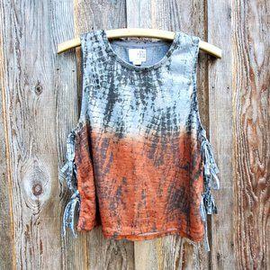 3/30$ 🍂 One Fashion by Vero Moda Tie Dye Ombre Tank Top Cami Open Sides